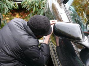 Vehicle break-in on campus