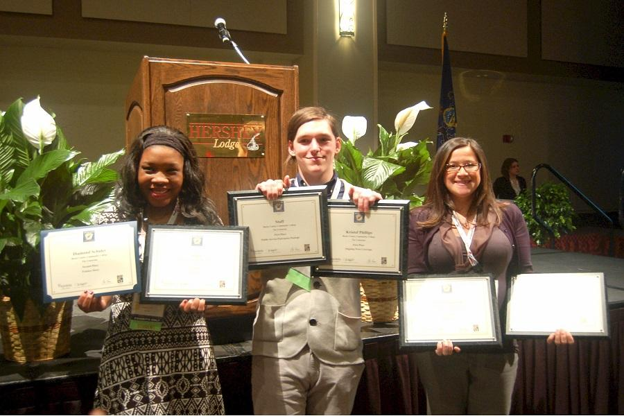 Centurion award winners. left to right: Diamond Schuler, Kristof Phillips, Michele Haddon