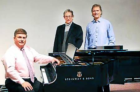 Left to right: Professor Ferdinand, music program chair Steven Bresnen, and Arts Department Dean John Matthews