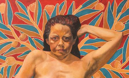 Art included in Kukuli Velarde exhibit in the Hicks Art Center, courtesy of Bucks' website.