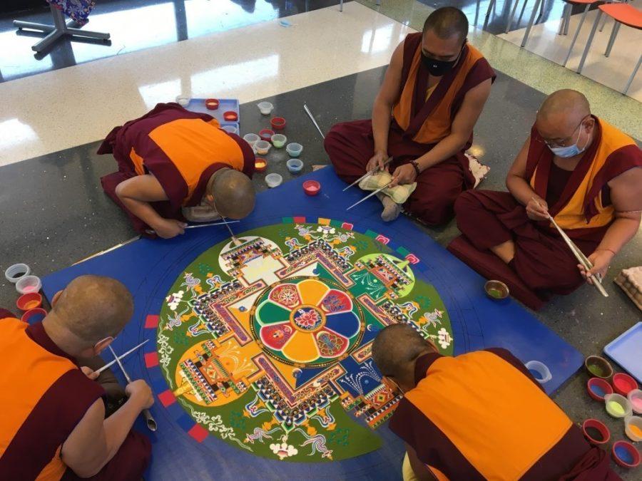 Tibetan Refugee Monks Return to Bucks Solarium