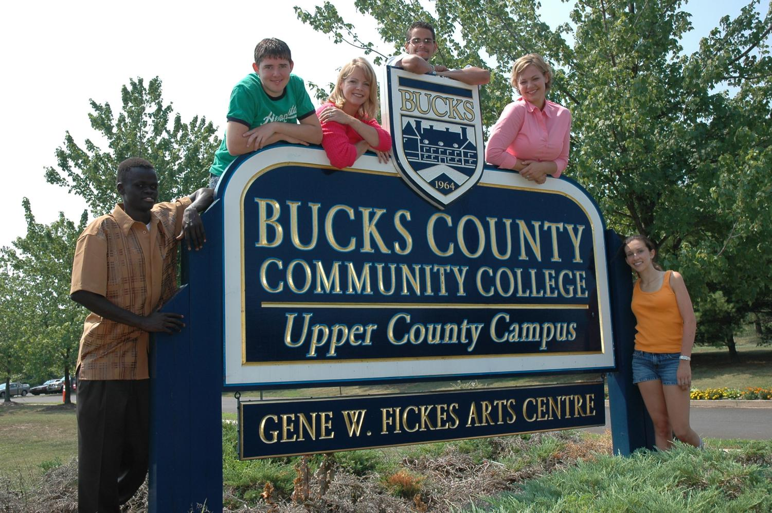 Students at the Upper Bucks campus, courtesy of Jerry Millevoi