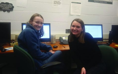 Sarah Siock (right) sits with fellow Centurion editor Alyssa Moore.