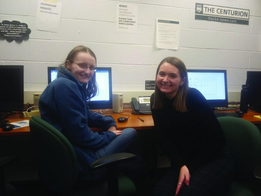 Centurion staff members Alyssa Moore (left) and Sarah Siock (right).