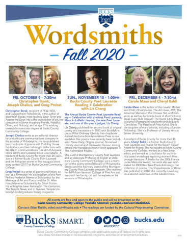 Wordsmiths poetry series goes online