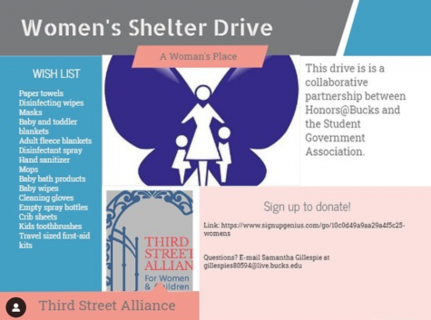 Honors at Bucks Holding Women's Shelter Drive