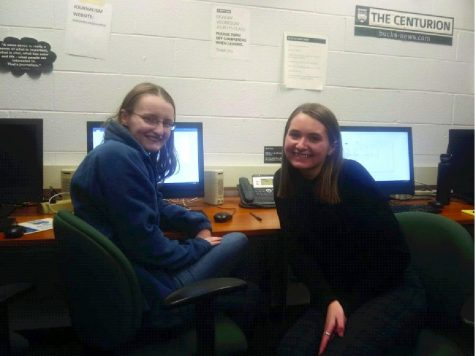 Centurion editors Alyssa Moore (l) and Sarah Siock